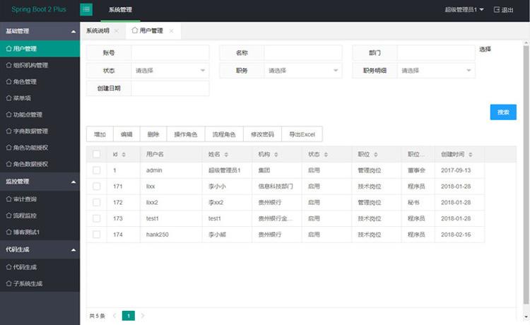 【后台管理系统】用户+组织机构+角色+功能点+菜单+权限分配[java SpringBoot2]-找主题源码