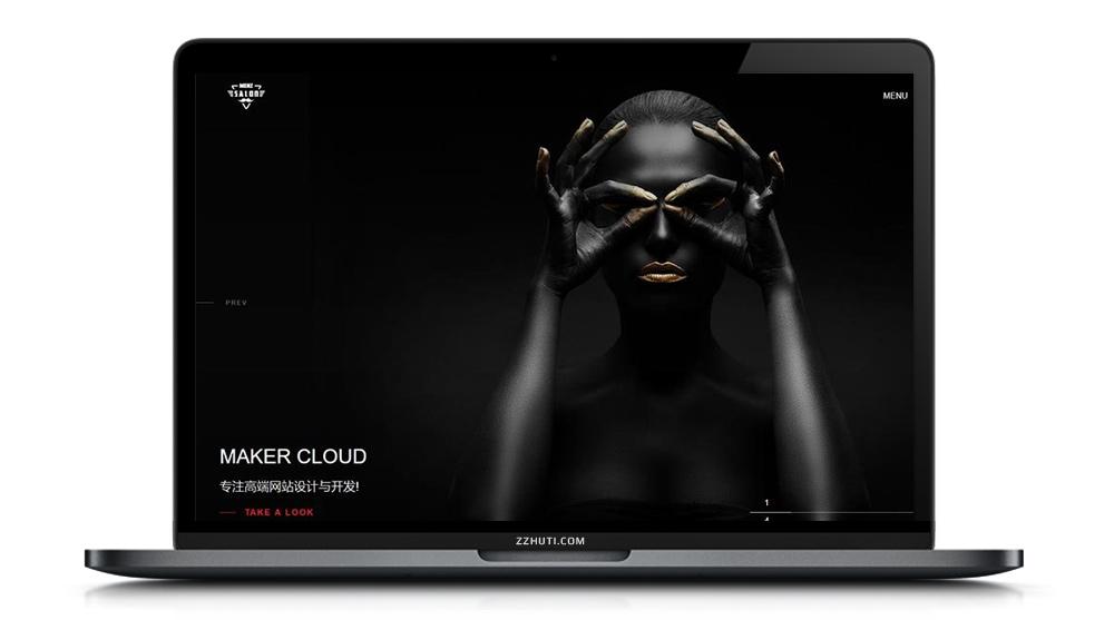 【织梦滚屏摄影企业模板】高端黑色全屏摄影相册艺术公司响应式网站dedecms源码[自适应手机端]-找主题源码