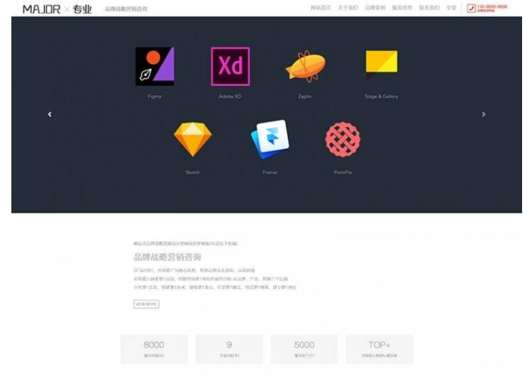 【织梦品牌设计模板】HTML5品牌战略营销设计类网站织梦响应式模板-找主题源码
