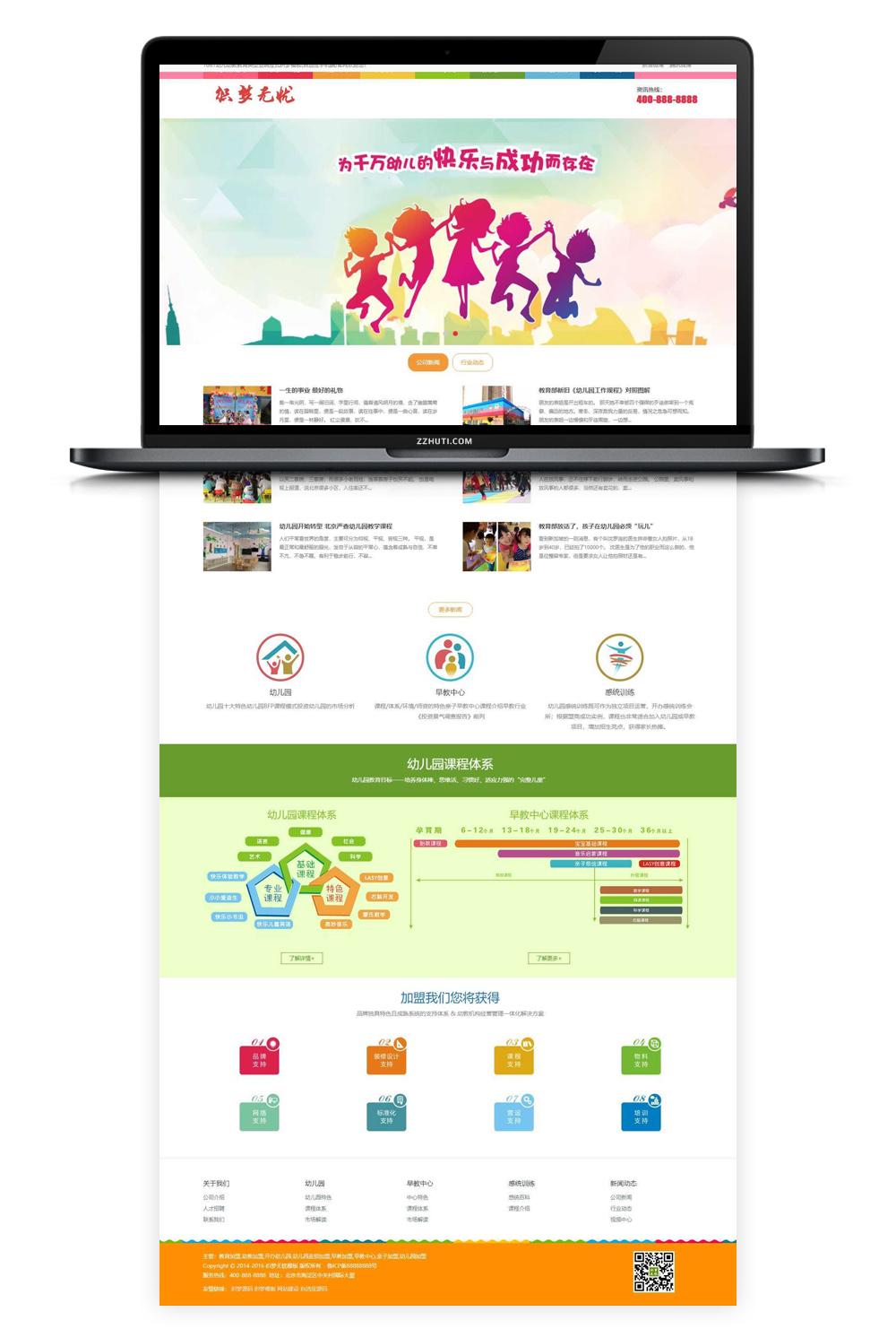 【织梦儿童培训企业模板】儿童幼儿教育公司响应式DEDECMS自适应手机端网站源码-找主题源码