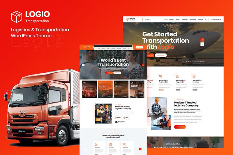 【WP运输企业模板】wordpress物流与运输Logio – Logistics & Transportation主题源码-找主题源码